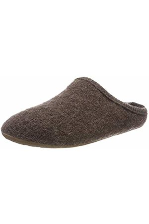 HAFLINGER Men's Dakota Classic Open Back Slippers, (Braunmeliert 263)
