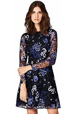 TRUTH & FABLE Floral Embroidered Skater Party Dress