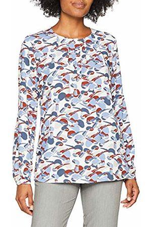 Seidensticker Women's Shirtbluse Comfort Fit Ohne Kragen Langarm Rundhals Vogeldruck Blouse