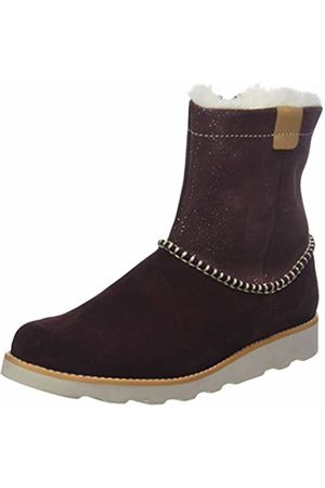 Clarks Girls' Crown Piper Slouch Boots, (Burgundy Suede-)