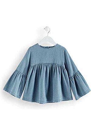 RED WAGON Girl's Chambray Flute Sleeve Blouse