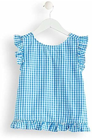 RED WAGON Girl's Gingham Wrapover Back Blouse