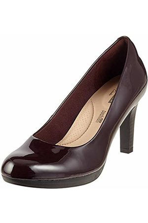 a038220af Clarks Women s Adriel Viola Closed-Toe Pumps (Aubergine) 3 UK