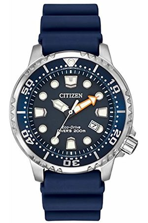 Citizen Men's Divers Eco Drive Watch with Dial Analogue Display and PU Strap BN0151-09L