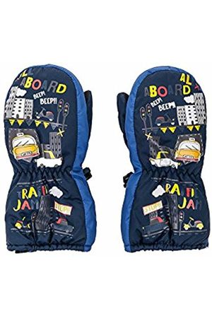 maximo Boys' 78303-826100, Thermofausthandschuh, Druck Traffic jam, Zipper Mittens