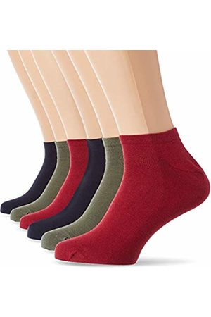 Dim Men's Basique Bundle Socquette Courte Classique Coton X6 Ankle Socks, (Bleu Marine/Kaki/ Bordeaux X2 76t)