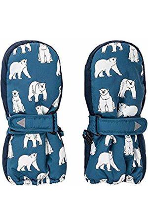 maximo Boys' 78303-826300, Thermofausthandschuh, Druck Polar Bears, Klettverschluss Mittens