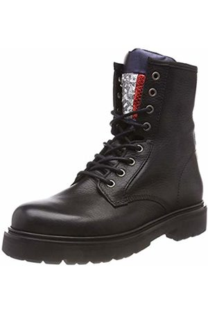 Tommy Hilfiger Women's Big Flag Sparkle Lace Up Boot Combat ( 990)