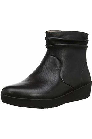 FitFlop Women's SKATEBOOTIE - Leather Ankle Boots ( 001)
