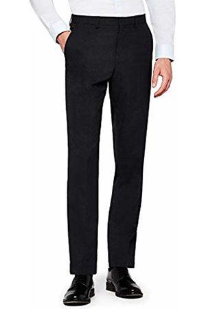 Hem & Seam Men's Regular Fit Textured Formal Trousers