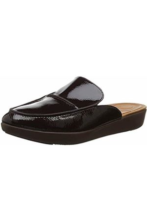 FitFlop Women's Serene Crinkle Patent Clogs