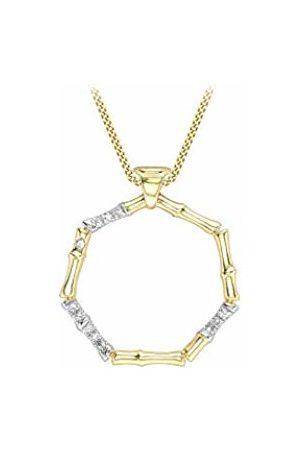 Carissima Gold Women Diamond Pendant Necklace of Length 46cm 1.46.4514