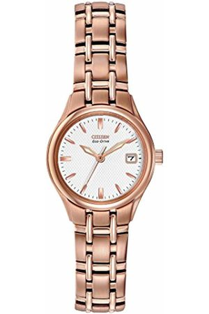 Citizen Watch Silhouette Women's Quartz Watch with Dial Analogue Display and Rose Stainless Steel Plated Bracelet EW1263-52A