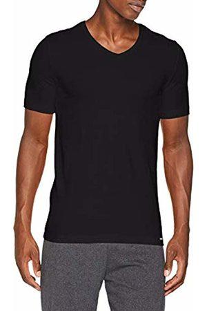 Skiny Men's Essentials V-Neck 1/2 Sleeve T-Shirt - - Schwarz (7662 ) - 54 (Brand size: XXL)