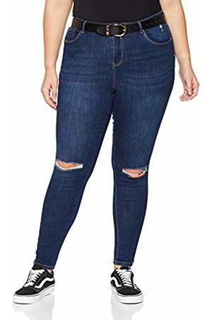 Simply Be Women's Chloe Ripped Knee Skinny Jeans, (Indigo)