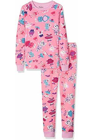 Hatley Girl's Organic Cotton Long Sleeve Printed Pyjama Sets, (Dress Up Cats)