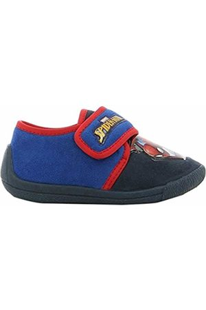 SPIDERMAN Boys Kids Houseshoes Velcro Low Top Slippers (Dark )