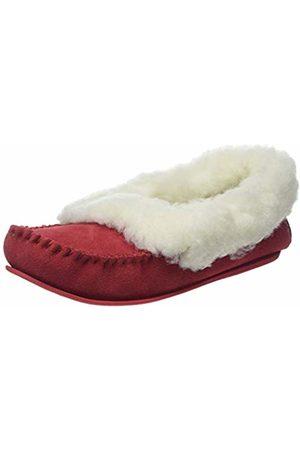 Snugrugs Women's Layla Low-Top Moccasin Slippers, (Crimson)