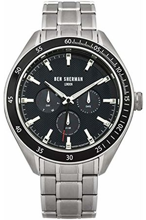 Ben Sherman Men's Quartz Watch with Dial Analogue Display and Stainless Steel Bracelet WB011UM