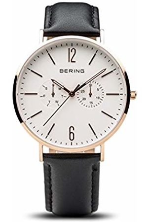 Bering Unisex Adult Analogue Quartz Watch with Leather Strap 14240-464