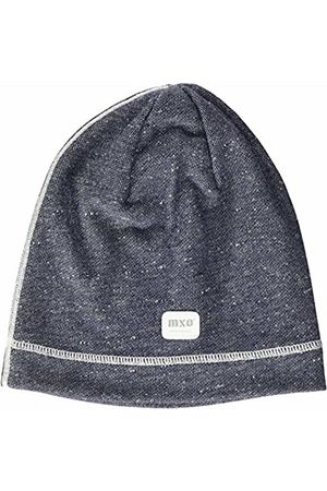 maximo Boys' 83500-017600, Beanie, Label, Ziernaht Hat (Blau Grau Meliert/Wollweiß 6338)