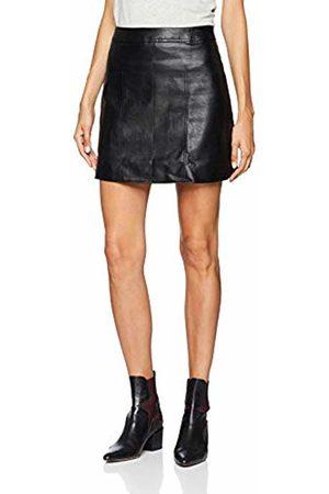 Lost Ink Women's Seam Detail Pu Mini Skirt