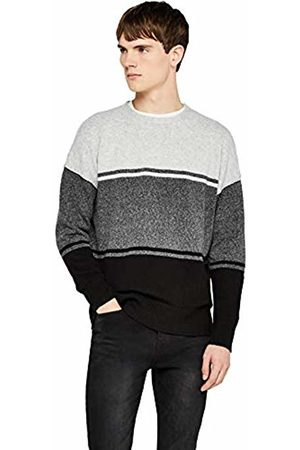 FIND Colour Block Knitted Jumper (Mid Marl/ )
