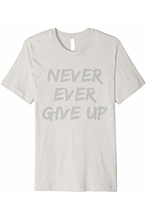 Sweat Revealing Workout Shirt Never Ever Give Up Sweat Reveal T-Shirt