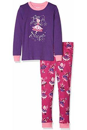 Hatley Girl's Organic Cotton Long Sleeve Appliqué Pyjama Sets, (Fairy Sleeper)