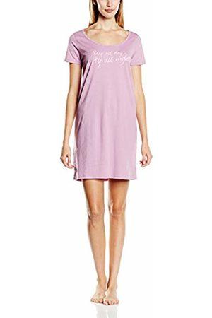 Intimuse Women's Night Dress with Print – Short Sleeve Night Shirt for Ladies