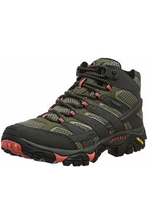 Merrell Women's Moab 2 Mid GTX High Rise Hiking Boots, Beluga/Olive