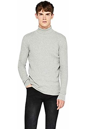 FIND Men Jumpers & Sweaters - Ribbed Roll Neck Knitted Jumper