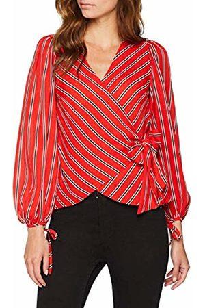 warehouse Women's Wrap Tie Blouse ( Stripe 63)