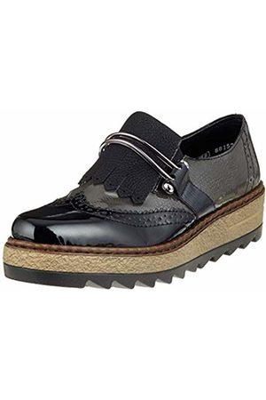 Rieker Women's 55878 Loafers, fumo/baltik/Schwarz 00