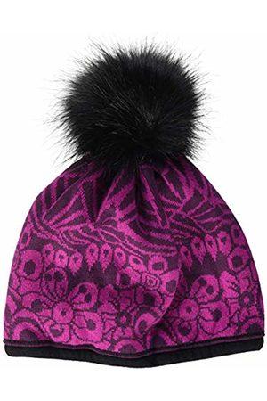 maximo Girls' 83571-353600, Mütze, Blumen, Kunstfellpompon Hat