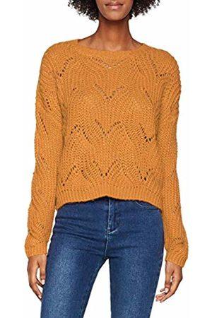 ONLY NOS Women's Onlhavana L/s Pullover KNT Noos Jumper (Golden )