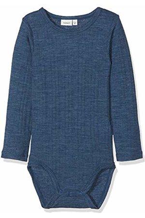 Name it Baby Boys' Nmmwang Wool Needle Ls Body Noos Footies Ensign