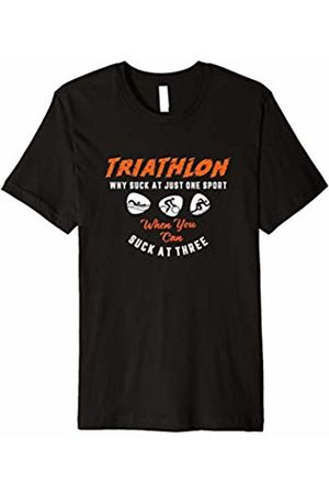 Funny Triathlon Gifts GFX Triathlon Why Suck At Just One Sport Funny Tri T Shirt