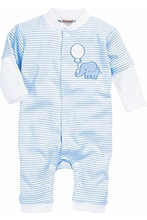 Playshoes Baby Schlafoverall Elefant Sleepsuit, (Bleu)