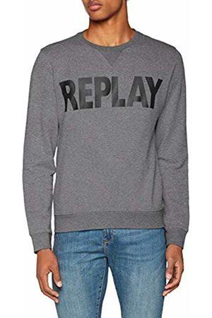 Replay Men's Logo Sweater Sweatshirt (Melange M14)