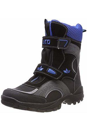 LICO Unisex Kids' Samuel V Snow Boots, Schwarz/Grau/Blau