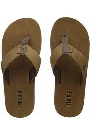 Reef Leather Smoothy, Men Flip Flops, (Bronze )