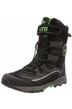LICO Unisex Kids' Claron Vs Snow Boots, Schwarz/Lemon