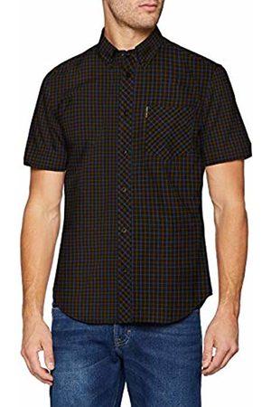 Ben Sherman Men's SS House Check Casual Shirt, ( Bark)