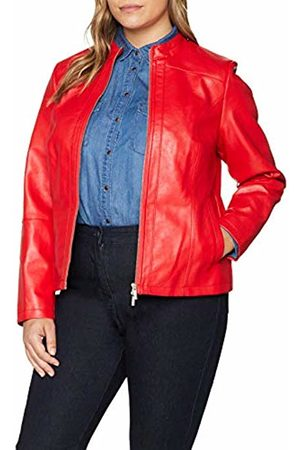 Ulla Popken Women's Lederimitat Jacke Jacket (Rot 51)