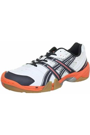 Asics Womens GEL-DOMAIN Handball Shoes Weiß ( /Titanium/Neon 197) Size: 6.5 (40.5 EU)