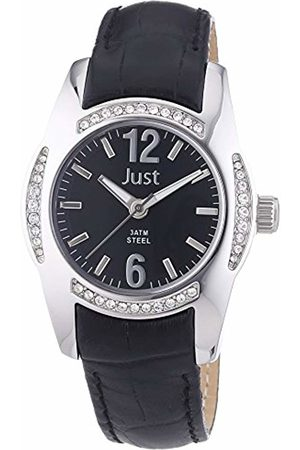 Just Watches Women's Quartz Watch with Leather 48–S8368–BK
