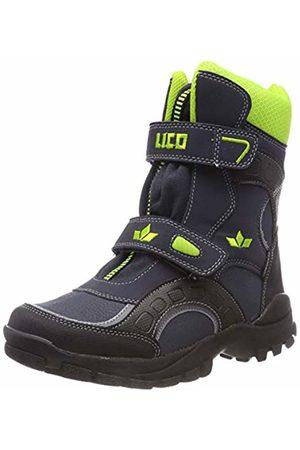 LICO Unisex Kids' Samuel V Snow Boots, Marine/Schwarz/Lemon