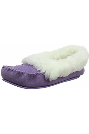 Snugrugs Women's Layla Low-Top Moccasin Slippers, (Lilac)