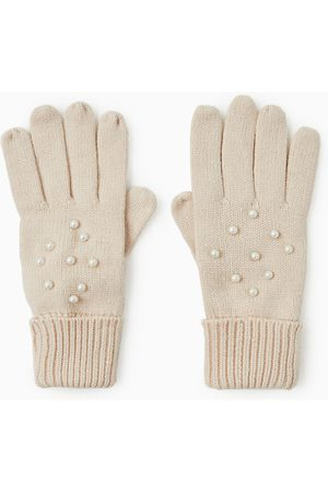 Zara MITTENS WITH FAUX PEARLS